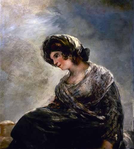 cuadros-de-retrato - Cuadro -La lechera de Burdeos- - Goya y Lucientes, Francisco de