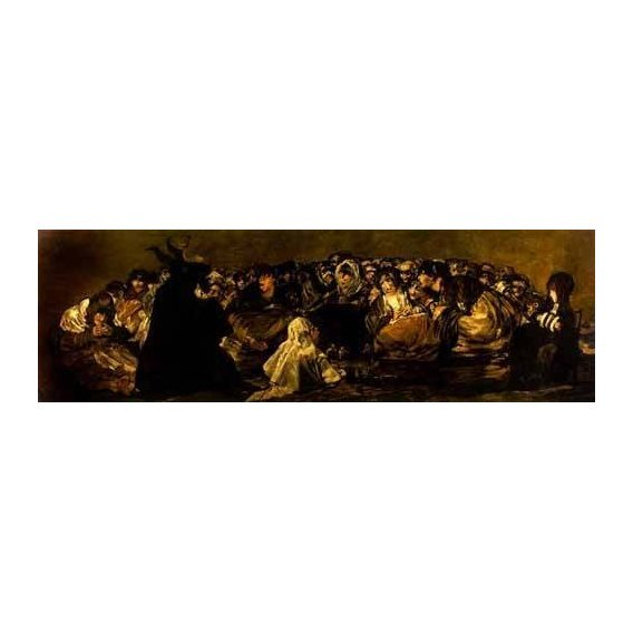 cuadros de retrato - Cuadro -El Aquelarre: El Gran cabrón-