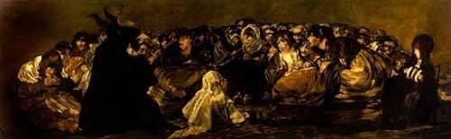 cuadros-de-retrato - Cuadro -El Aquelarre: El Gran cabrón- - Goya y Lucientes, Francisco de