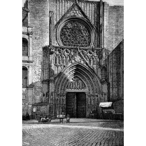 Cuadro -Catedral de Valencia, vista de la puerta de los Apóstoles-
