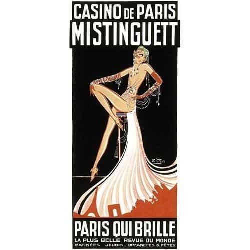 cuadros de mapas, grabados y acuarelas - Cuadro -Cartel: Mistinguett en el Casino de Paris-