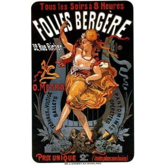 - Cuadro -Cartel: Espectaculos en Folies Bergere, 32 rue Richer- - _Anónimo Frances