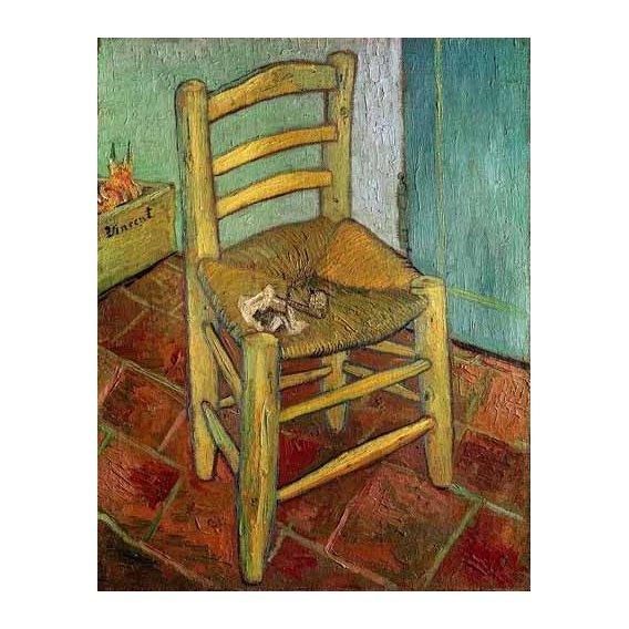 cuadros de bodegones - Cuadro -La silla de Vincent-