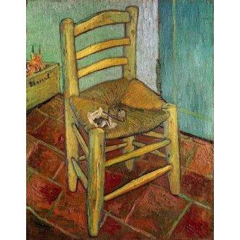 cuadros de bodegones - Cuadro -La silla de Vincent- - Van Gogh, Vincent