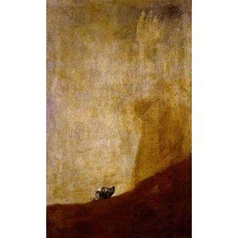 cuadros de fauna - Cuadro -Perro semihundido- - Goya y Lucientes, Francisco de