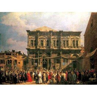 - Cuadro -Visita del Dux a Iglesia San Rocco- - Canaletto, Giovanni A. Canal