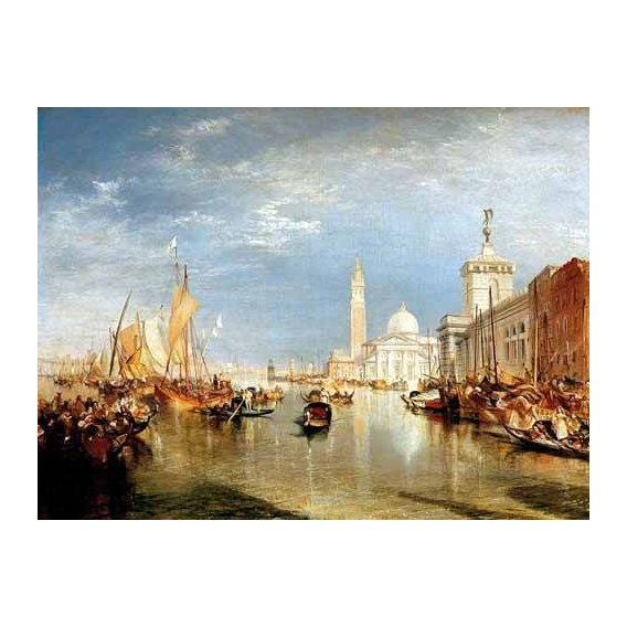 cuadros de paisajes - Cuadro -Dogana y San Giorgio Maggiore en Venecia-