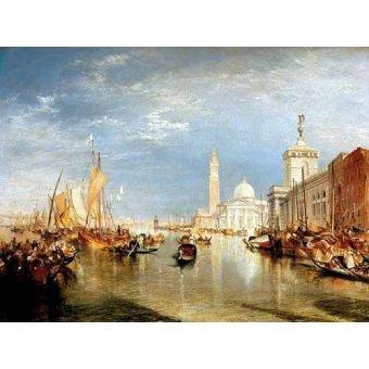 - Cuadro -Dogana y San Giorgio Maggiore en Venecia- - Turner, Joseph M. William
