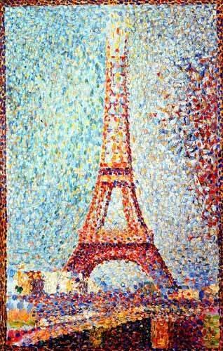 cuadros-de-paisajes - Cuadro -La Torre Eiffel- - Seurat, Georges