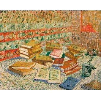 cuadros de bodegones - Cuadro -Los libros amarillos, 1887- - Van Gogh, Vincent