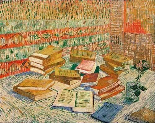 cuadros-de-bodegones - Cuadro -Los libros amarillos, 1887- - Van Gogh, Vincent