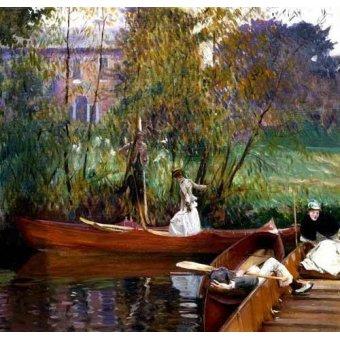 - Cuadro -Fiesta en el rio- - Sargent, John Singer
