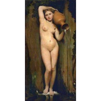 cuadros de retrato - Cuadro -La Fuente- - Ingres, Jean-Auguste-Dominique