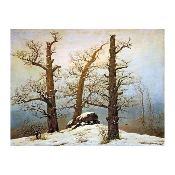 cuadros de paisajes - Cuadro -Megalithic Caim In The Snow-