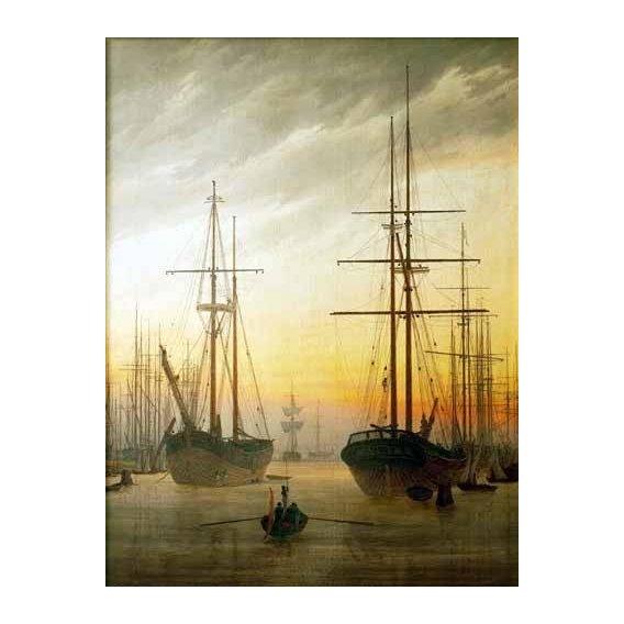 cuadros de paisajes - Cuadro -Ships in The Harbour-