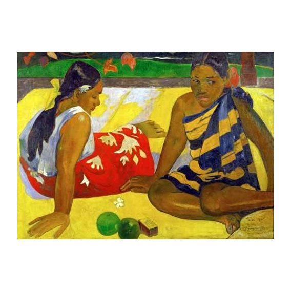 cuadros de retrato - Cuadro -Two women from Tahiti (Oil on canvas) (1892)-