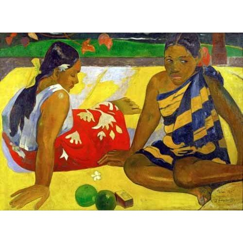 Cuadro -Two women from Tahiti (Oil on canvas) (1892)-