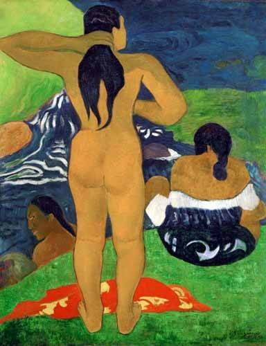 cuadros-de-retrato - Cuadro -Tahitian women on the beach,1892- - Gauguin, Paul