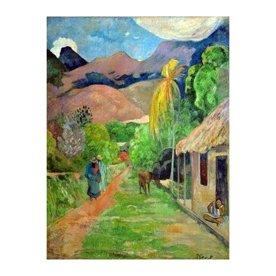 cuadros de paisajes - Cuadro -Path In Papeete, Rue du Tahiti-