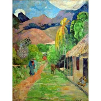 - Cuadro -Path In Papeete, Rue du Tahiti- - Gauguin, Paul