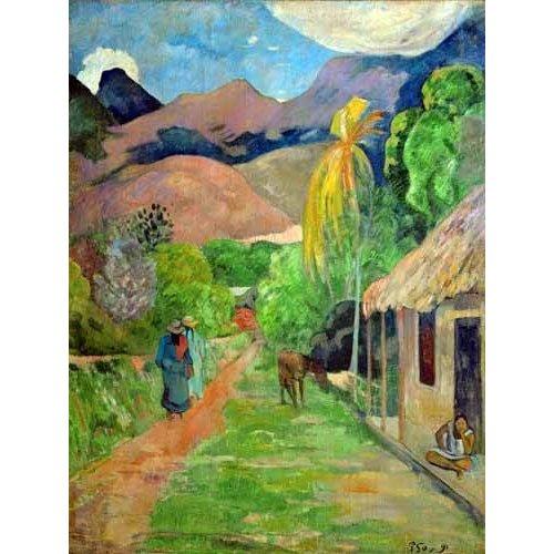 Cuadro -Path In Papeete, Rue du Tahiti-