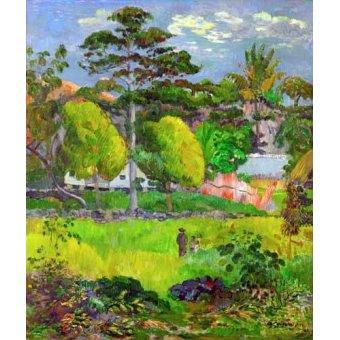 - Cuadro -Landscape (Paysage) 1891- - Gauguin, Paul