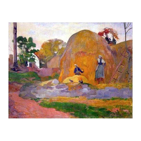 cuadros de paisajes - Cuadro -The yellow haystack, 1889-