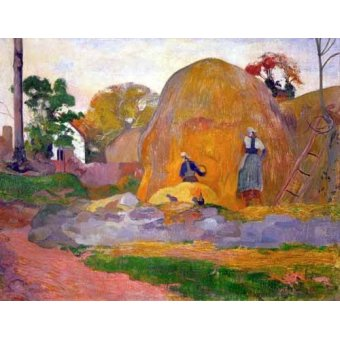 - Cuadro -The yellow haystack, 1889- - Gauguin, Paul
