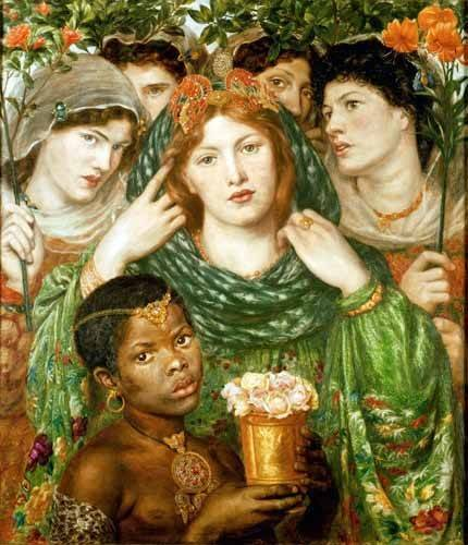 cuadros-de-retrato - Cuadro -The Beloved- - Rossetti, Dante Gabriel