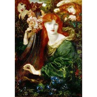 - Cuadro -Ghirlandata- - Rossetti, Dante Gabriel