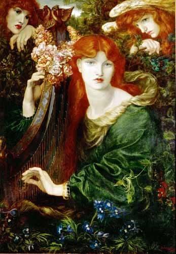 cuadros-de-retrato - Cuadro -Ghirlandata- - Rossetti, Dante Gabriel