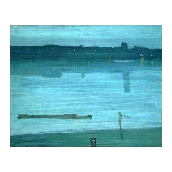 cuadros de marinas - Cuadro -Nocturne, Blue and Silver_Chelsea, 1871-