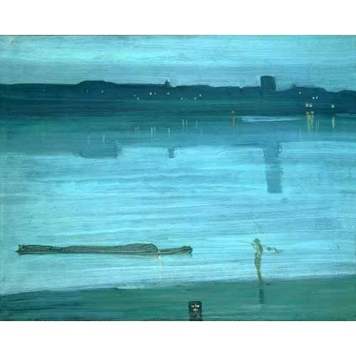 Cuadro -Nocturne, Blue and Silver_Chelsea, 1871-