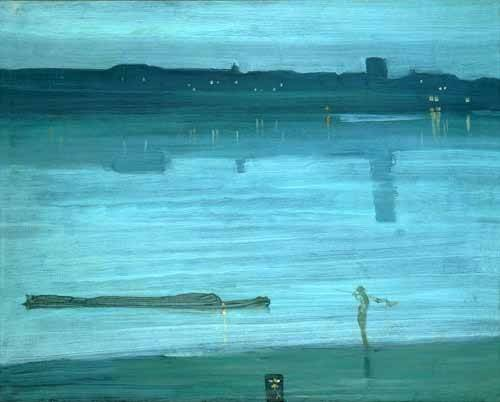 cuadros-de-marinas - Cuadro -Nocturne, Blue and Silver_Chelsea, 1871- - Whistler, James Abbot McNeill