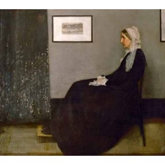 - Cuadro -The painter's mother Anna Mathilda McNeill (1804-1881).- - Whistler, James Abbot McNeill