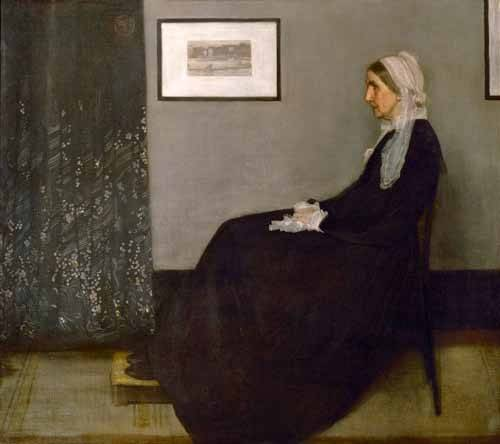 cuadros-de-retrato - Cuadro -The painter's mother Anna Mathilda McNeill (1804-1881).- - Whistler, James Abbot McNeill