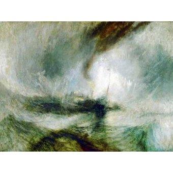 cuadros de marinas - Cuadro -Snow Storm- - Turner, Joseph M. William