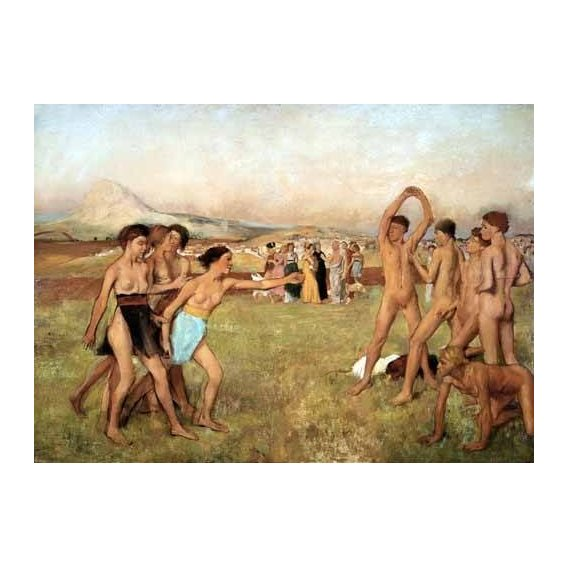 cuadros de retrato - Cuadro -Young Spartans Exercising, 1860-