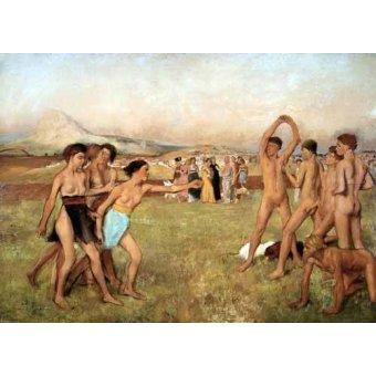 - Cuadro -Young Spartans Exercising, 1860- - Degas, Edgar