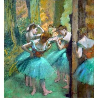 - Cuadro -Pink and Green Dancers, 1890- - Degas, Edgar