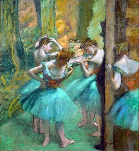 cuadros-de-retrato - Cuadro -Pink and Green Dancers, 1890- - Degas, Edgar