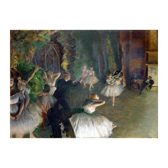 cuadros de retrato - Cuadro -Repetition D un Ballet Sur La Scene, 1873-74-
