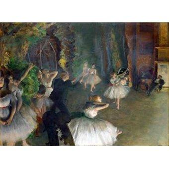 - Cuadro -Repetition D un Ballet Sur La Scene, 1873-74- - Degas, Edgar