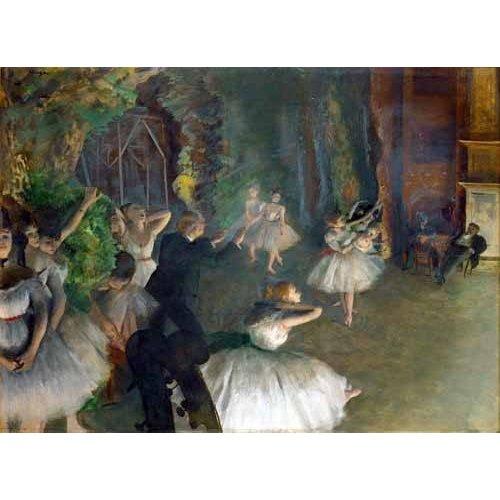 Cuadro -Repetition D un Ballet Sur La Scene, 1873-74-