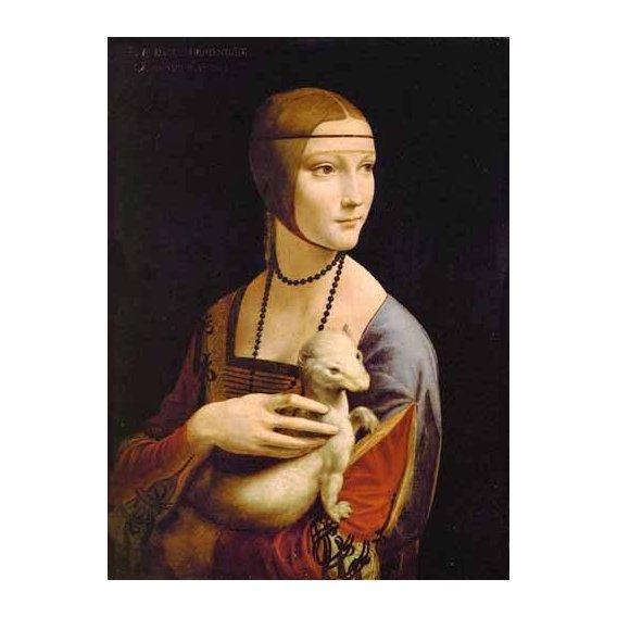 cuadros de retrato - Cuadro -Dama con un armiño-