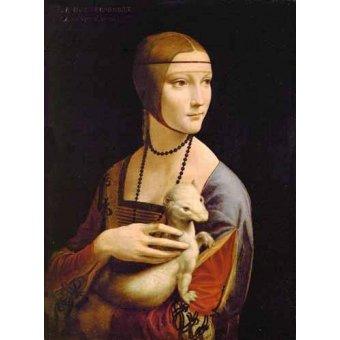 - Cuadro -Dama con un armiño- - Vinci, Leonardo da