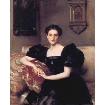 - Cuadro -Retrato de Elizabeth Winthrop Chanler- - Sargent, John Singer