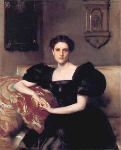 cuadros-de-retrato - Cuadro -Retrato de Elizabeth Winthrop Chanler- - Sargent, John Singer