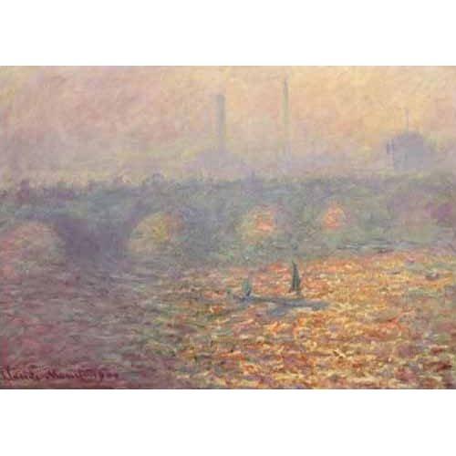 cuadros de paisajes - Cuadro -Waterloo Bridge, 1900-
