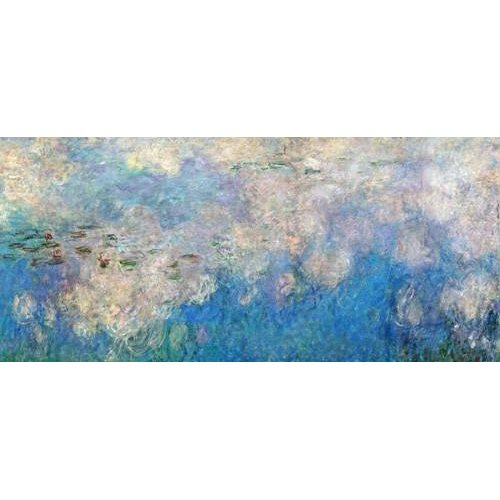 cuadros de paisajes - Cuadro -The Waterlilies - The Clouds (central section).-